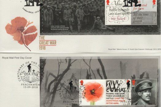 Royal Mail Great War 1918 PSB FDC image 1