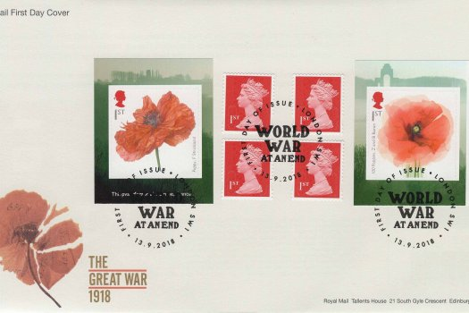 Royal Mail Great War 1918 Retail Booklet FDC
