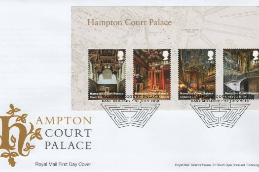 Royal Mail Hampton Court Minisheet FDC