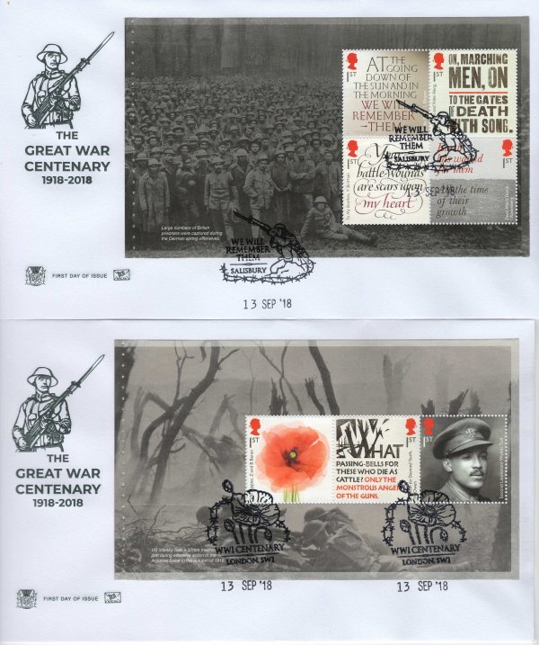 Stuart Great War 1918 PSB FDC image 1