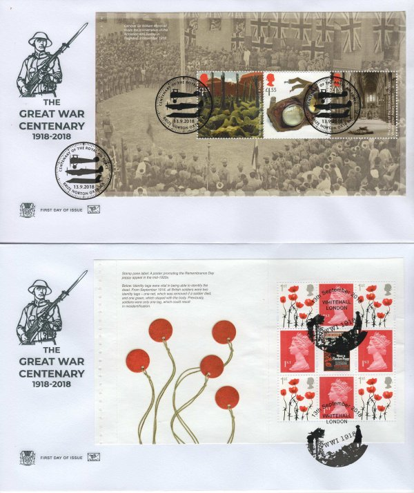 Stuart Great War 1918 PSB FDC image 2