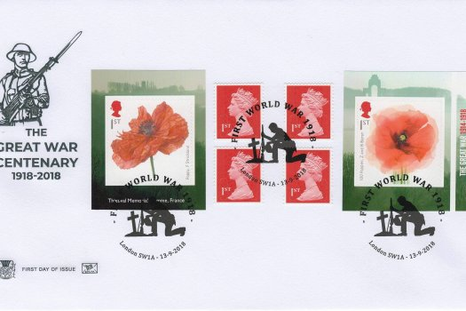 Stuart Great War 1918 Retail Booklet FDC