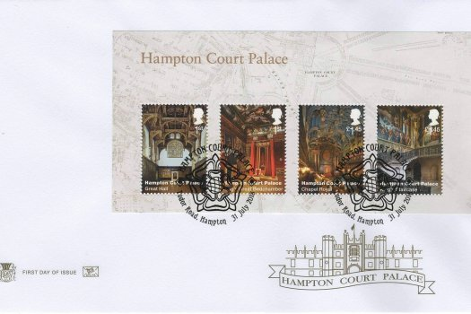 Stuart Hampton Court Minisheet FDC