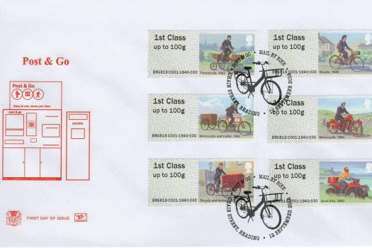 Stuart P&G Mail by Bike FDC