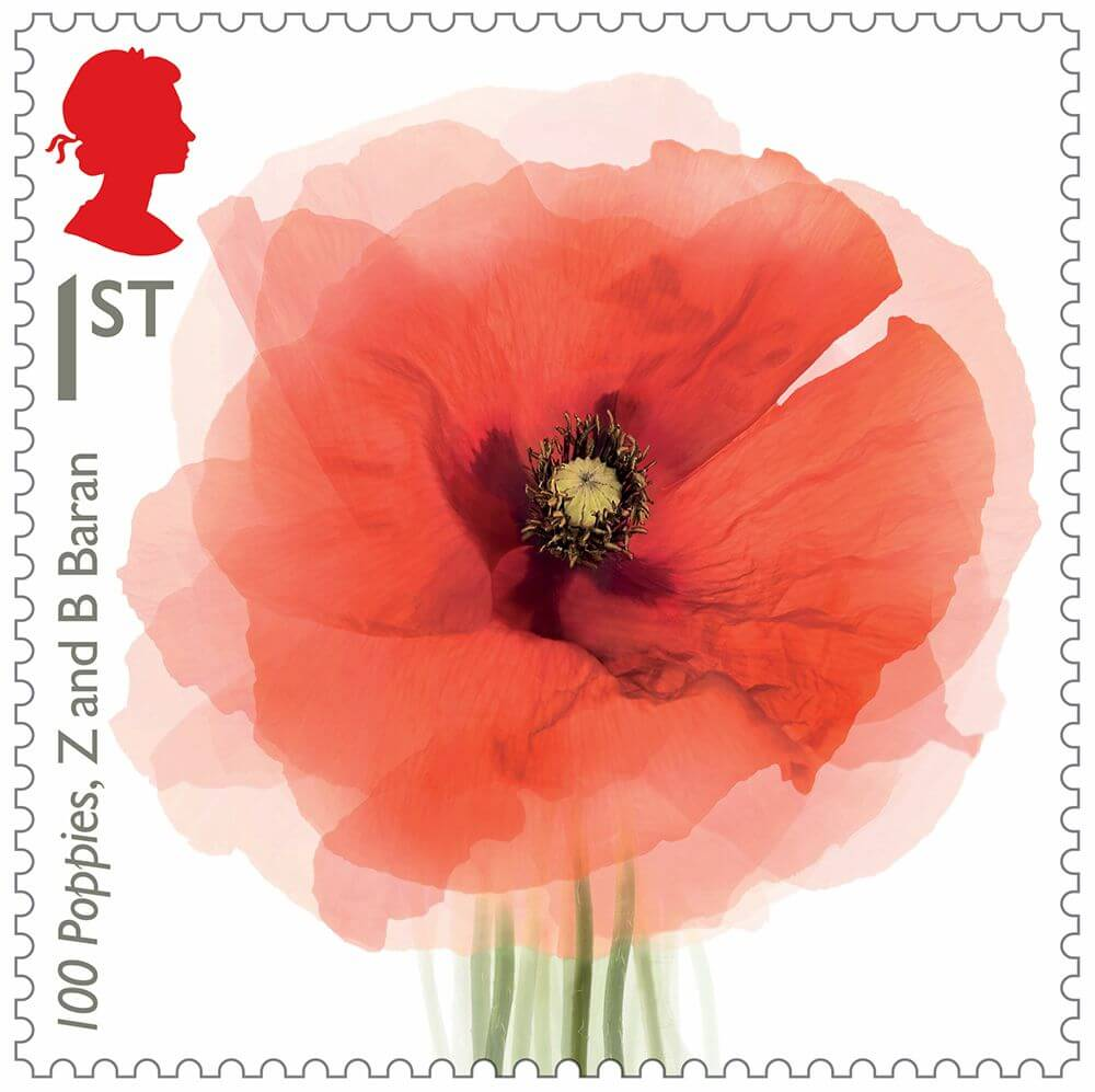 100 poppies stamp