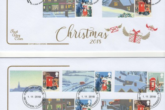 Cotswold Christmas 2018 Generic Sheet FDC image 2