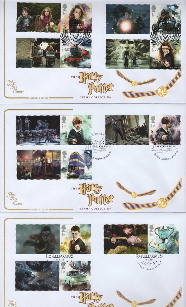 Cotswold Harry Potter Generic Sheet FDC