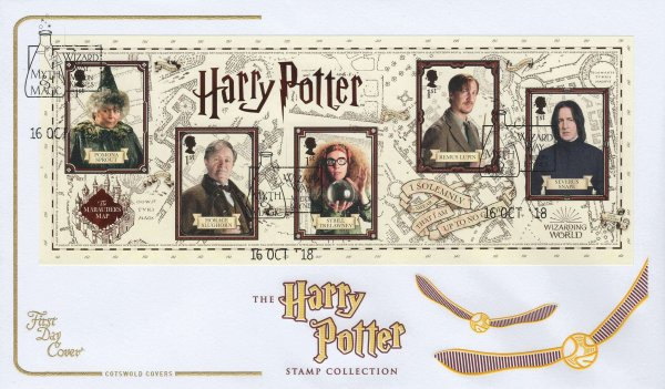 Cotswold Harry Potter Minisheet FDC