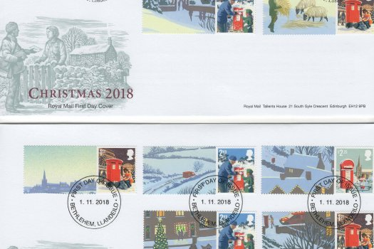 Royal Mail Christmas 2018 Generic Sheet FDC image1