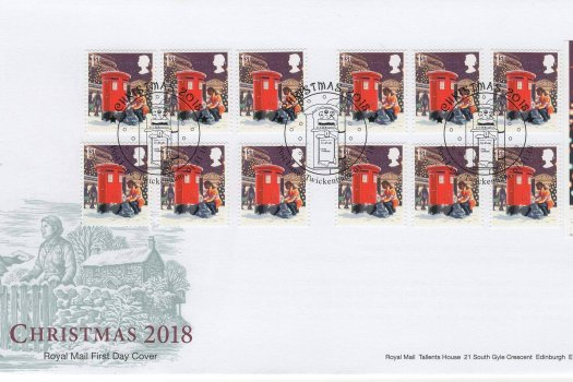 Royal Mail Christmas 2018 Retail Booklet 1st Class FDC