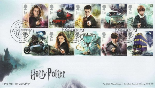 Royal Mail Harry Potter FDC