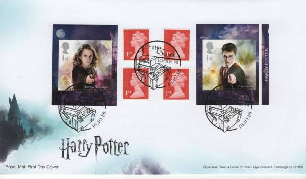 Royal Mail Harry Potter Retail Booklet FDC
