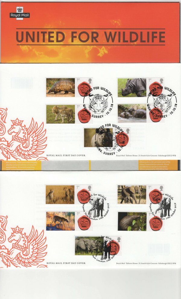 Royal Mail United for Wildlife Commemorative Sheet FDC