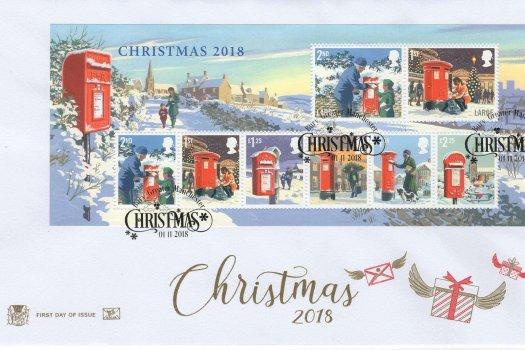 Stuart Christmas 2018 Minisheet FDC