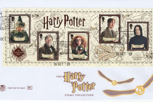 Stuart Harry Potter Minisheet FDC