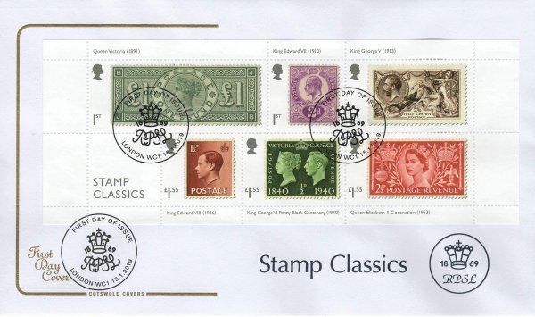Stamp Classics | Cotswold Stamp Classics MS FDC