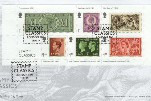 Stamp Classics | Royal Mail Stamp Classics MS FDC