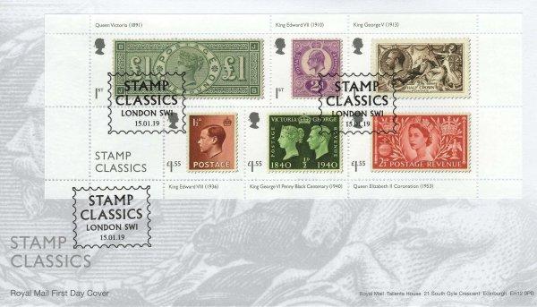 Stamp Classics | Royal Mail Stamp Classics MS FDC