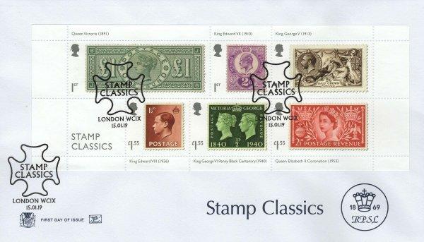 Stamp Classics   Stuart Stamp Classics MS FDC