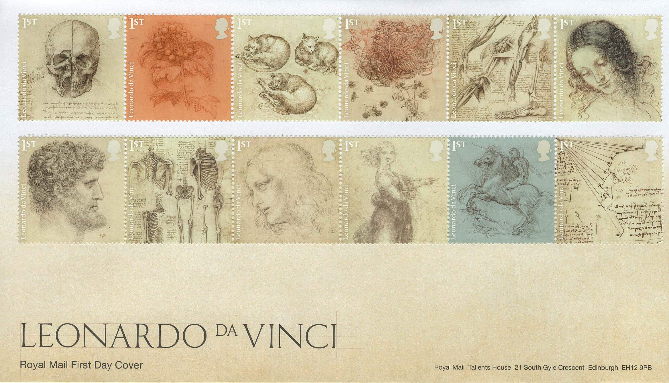 2019 begins with our Stamp Classics and Leonardo da Vinci Issues