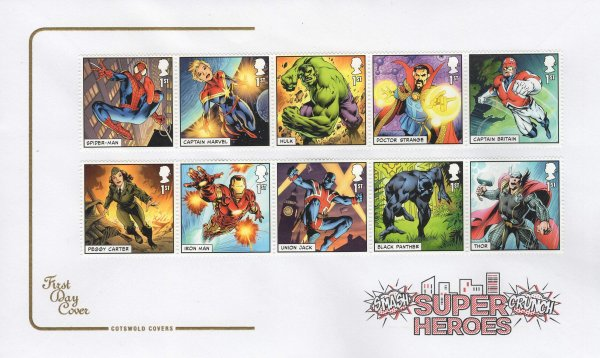 Cotswold Marvel Superheroes FDC