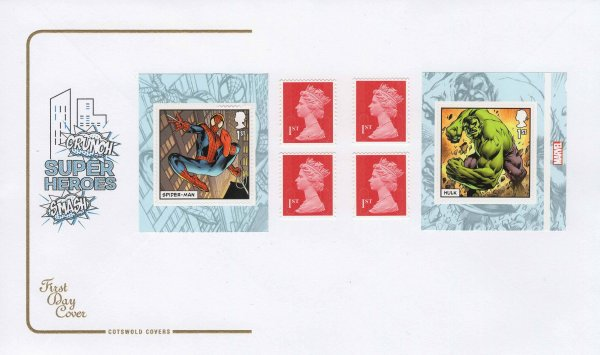 Cotswold Marvel Superheroes RB FDC
