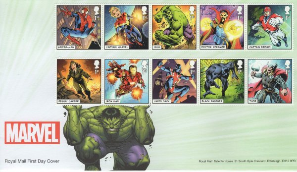 RM Marvel Superheroes FDC