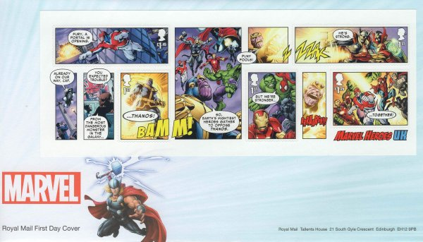 RM Marvel Superheroes MS FDC