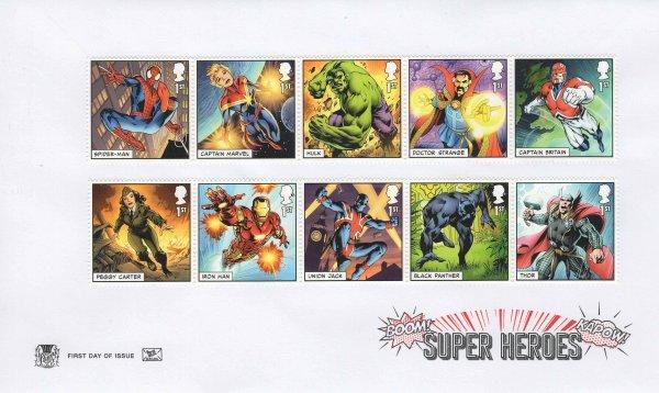 Stuart Marvel Superheroes FDC