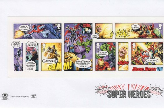 Stuart Marvel Superheroes MS FDC