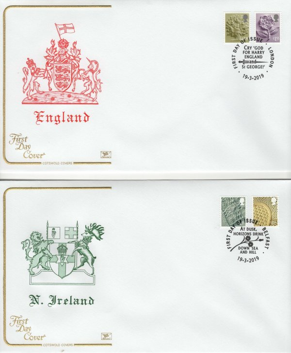 Cotswold Regional Definitives 2019 FDC image 1
