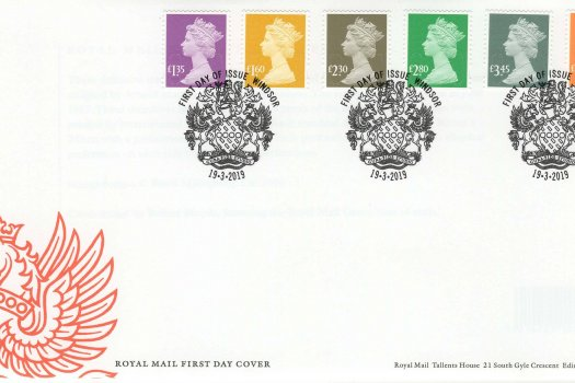 Royal Mail National Definitive 2019 FDC