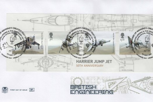 Stuart British Engineering Minisheet FDC