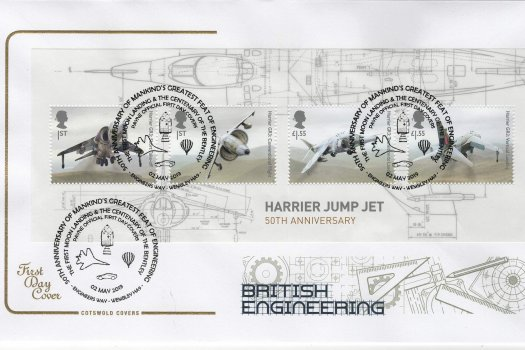 Cotswold British Engineering Minisheet FDC