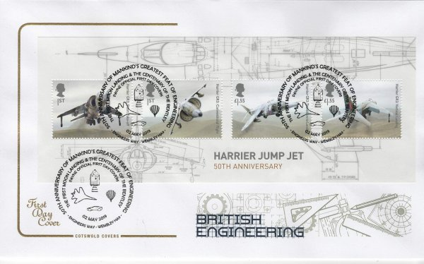 Cotswold British Engineering Minisheet FDC