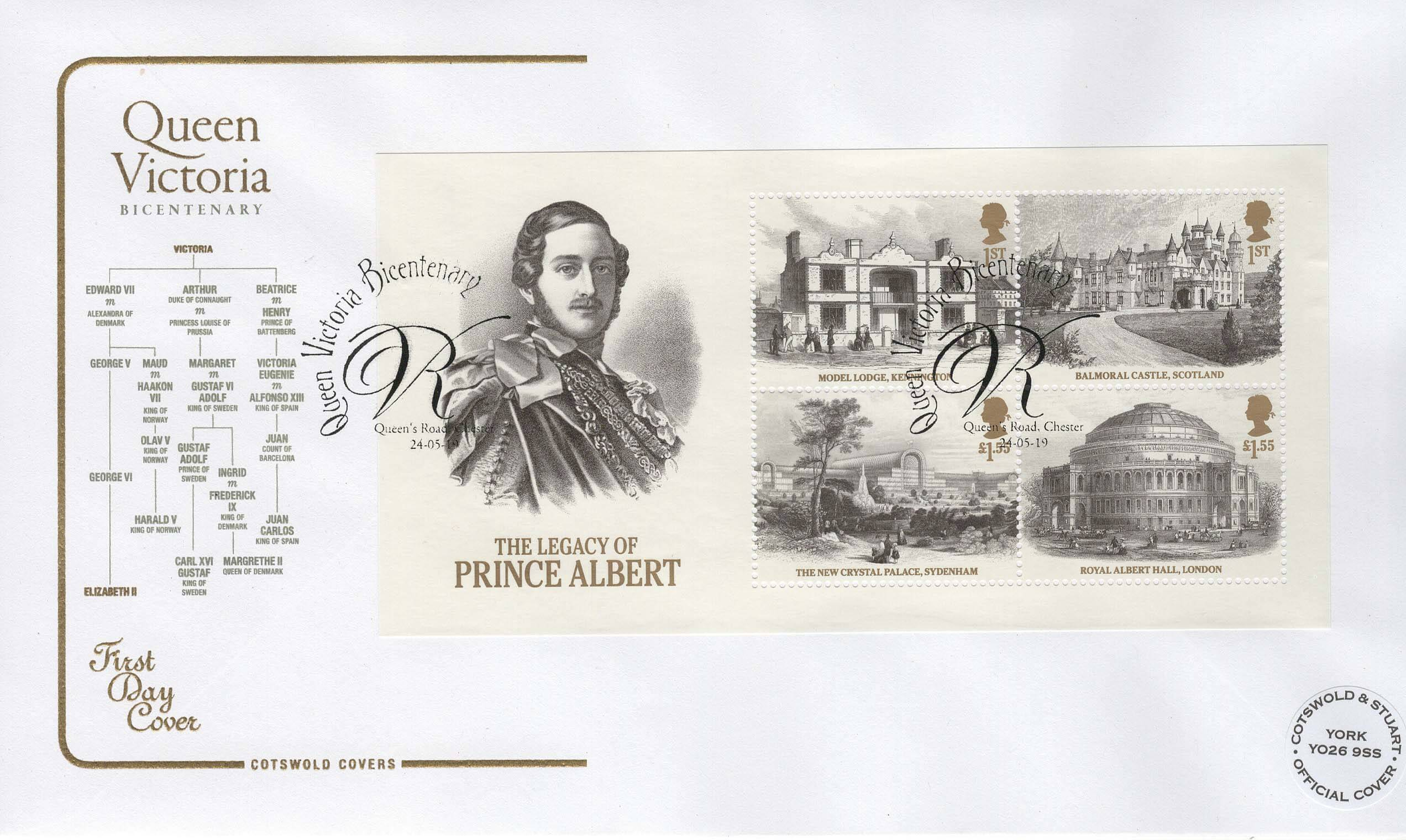 Cotswold Queen Victoria Bi-Centenary Minisheet FDC