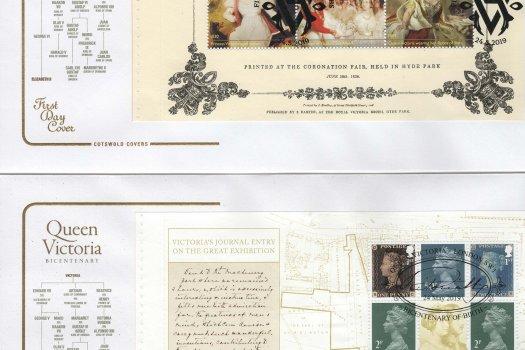 Cotswold Queen Victoria Bi-Centenary PSB FDC image 1