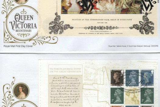 Royal Mail Queen Victoria Bi-Centenary PSB FDC image 1