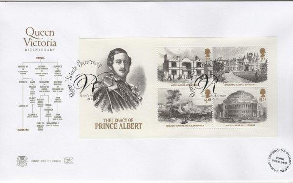 Stuart Queen Victoria Bi-Centenary Minisheet FDC