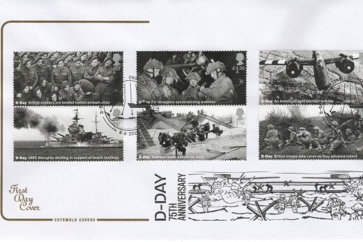 Cotswold D-Day 75th Anniv FDC