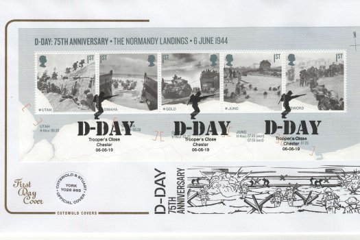 Cotswold D-Day 75thAnniv Mini Sheet FDC
