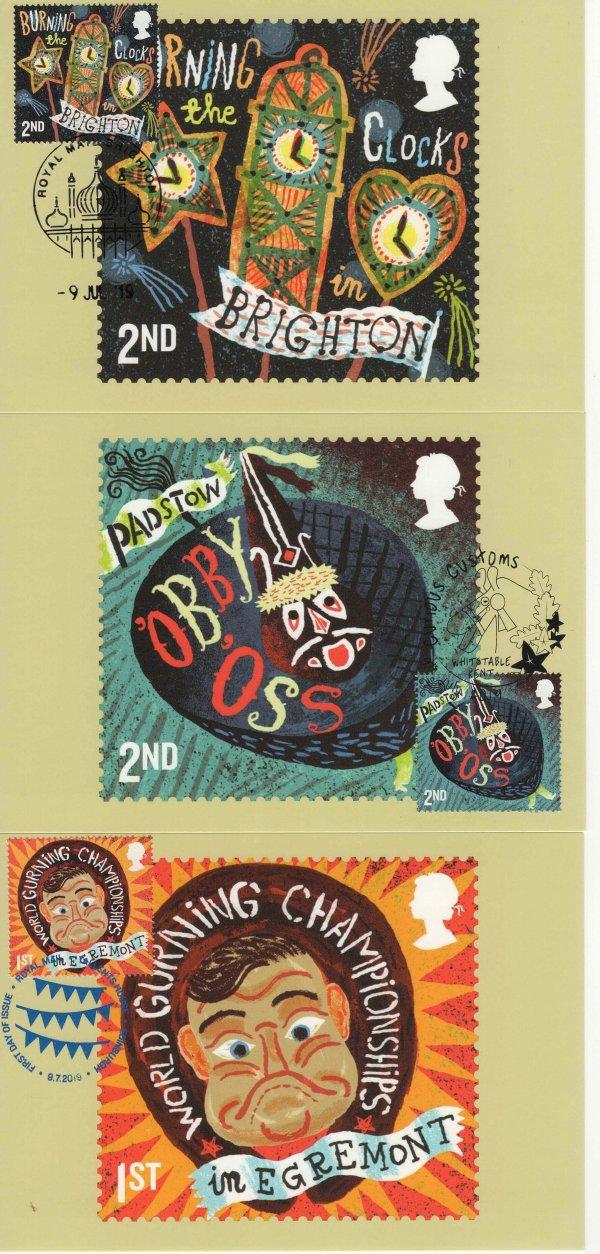 Curious Customs Stamp Cards 1
