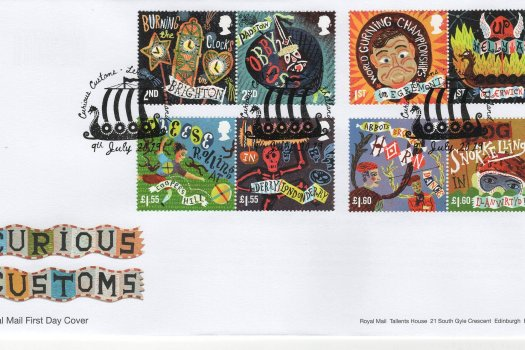 Royal Mail Curious Customs FDC