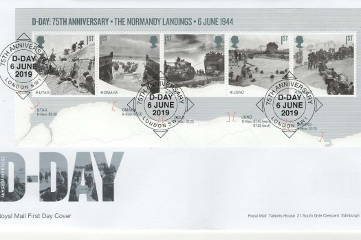 Royal Mail D-Day 75th Anniv Mini Sheet FDC