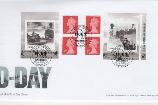 Royal Mail D-Day 75th Anniv Retail Bk FDC