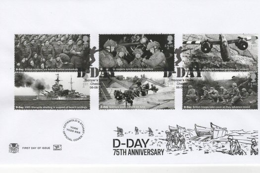 Stuart D-Day 75th Anniv FDC