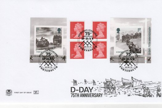 Stuart D-Day 75th Anniv Retail Bk FDC