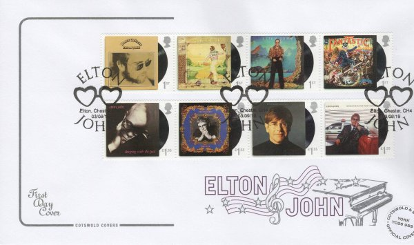 Cotswold Elton John FDC Official Cover