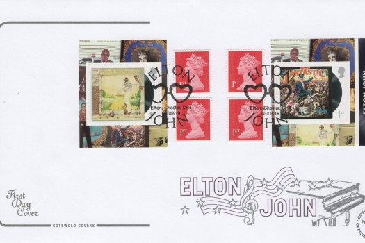 Cotswold Elton John Retail Booklet FDC Ltd Edition