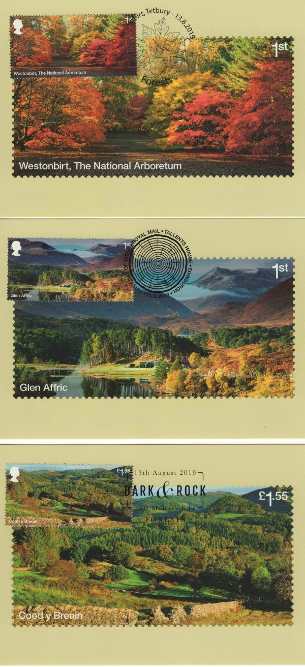 Forests Stamp Cards